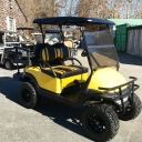 yellow custom cart