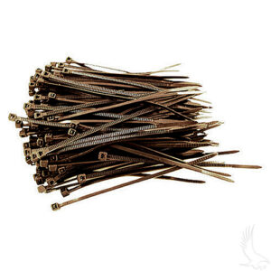 """Cable Ties, BAG of 100, 18# 6"""" Black"""