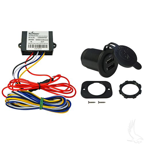 USB Charging Kit, 20-65V Electric Golf Cart