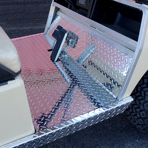 Floor Cover, Diamond Plate, Club Car DS