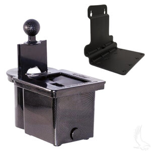 Ball Washer Black, with Bracket for Club Car Precedent
