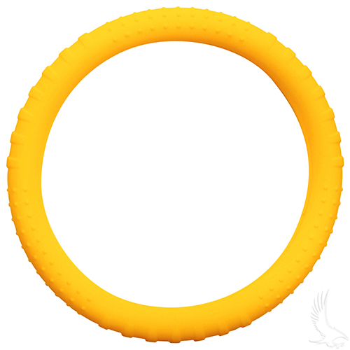 Steering Wheel Cover, Rubber Universal, Yellow
