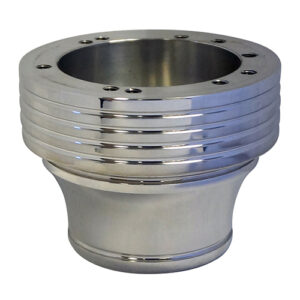 Adapter, Billet Polished with Grooves, E-Z-Go