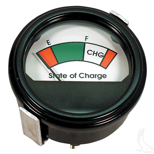 Charge Meter, 48V Round Analog