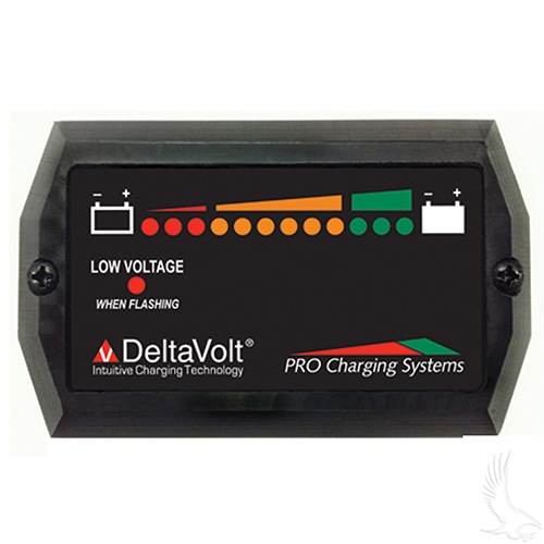 Charge Meter, 48V Dual Pro Horizontal with Mounting Tabs