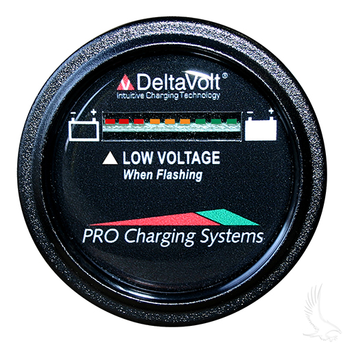 Dual Pro Battery Fuel Gauge, Round 36V System