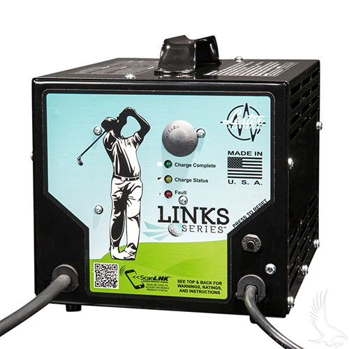 Battery Charger, Lester Links Series, 48V/13A Club Car 48V (for use w/o OBC)