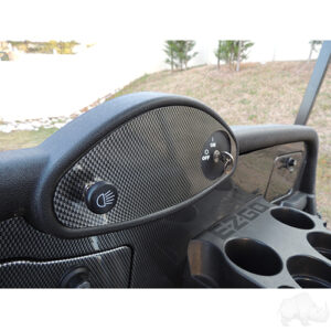 Dash Cover Plate, Carbon Fiber, E-Z-Go RXV Fleet