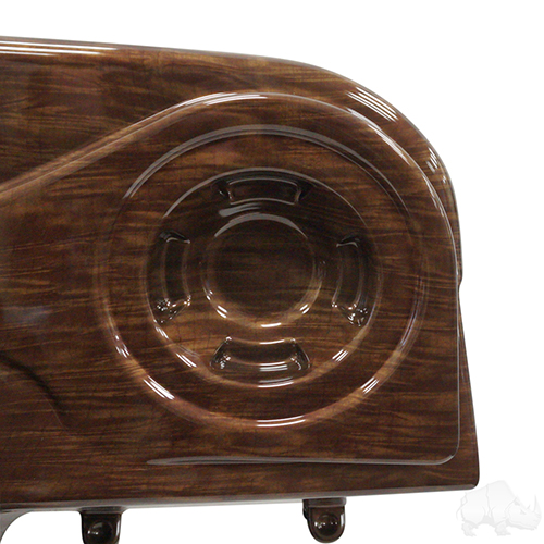 Dash, Deluxe with Radio Cutout and Speaker Indentations, Curly Maple, E-Z-Go RXV