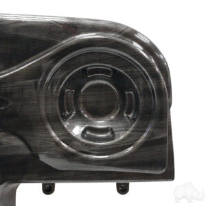 Dash, Deluxe with Radio Cutout and Speaker Indentations, Grey Wood, E-Z-Go RXV