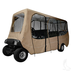 "Enclosure, Deluxe 6 Passenger, Sand, Fits up to 126"" Top"