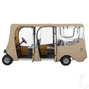 """Enclosure, Deluxe 6 Passenger, Sand, Fits up to 126"""" Top"""