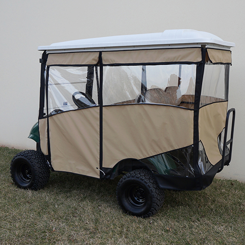 "Odyssey Enclosure, 88"" RHOX Top, Beige, E-Z-Go RXV with Rear Seat"