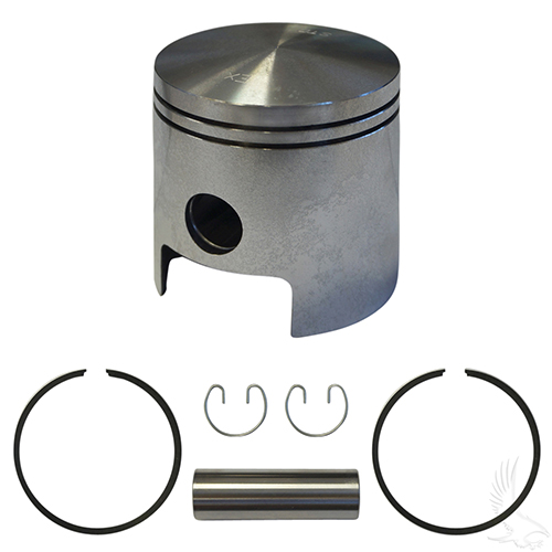Piston and Ring Assembly, One Port Standard Size, E-Z-Go 2-cycle Gas 80-88