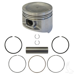 Piston and Ring Assembly, +.25mm, Yamaha G11, G16