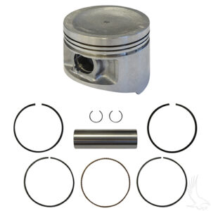 Piston and Ring Assembly, +.50mm, Yamaha G11, G16