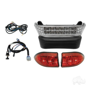 LED Light Bar Kit, Club Car Precedent 08.5+ w/ 12V Batteries