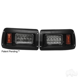 LED Adjustable Headlights with Bezels, Club Car DS 93+