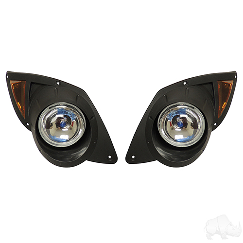 Factory Style Headlights with Bezels, Yamaha Drive 07-16