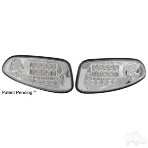 LED Clear Factory Style Headlights with Bezels, E-Z-Go RXV