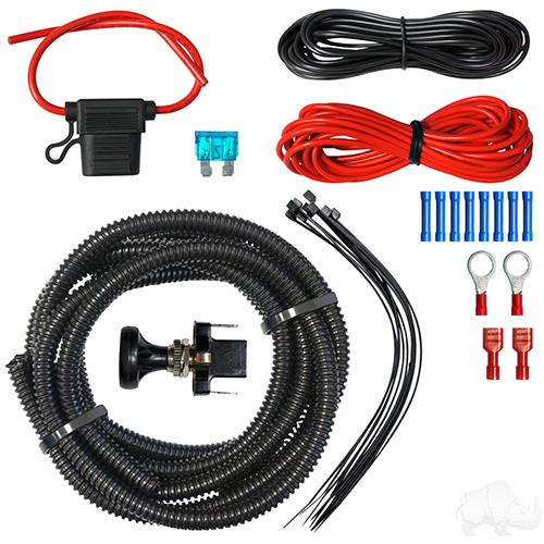 Wiring Kit, LED Utility with Push/Pull Switch