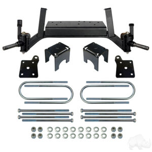 "RHOX Lift Kit, 5"" Drop Axle, E-Z-Go TXT Electric 01.5+ & Gas 01.5-08.5"