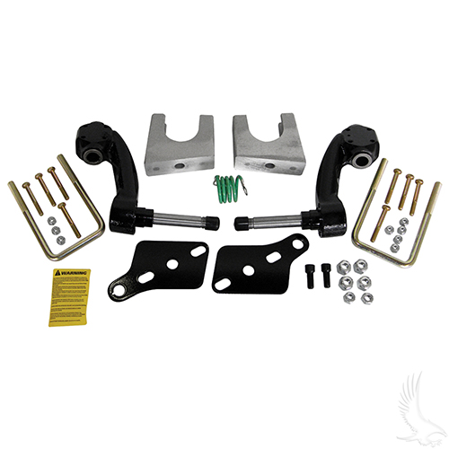 "Jakes Lift Kit, 6"" Spindle, Club Car DS Gas 96.5-03.5 & Electric 81-03.5 w/ Metal Dust Covers"