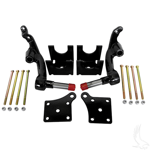 "Jakes Lift Kit, 6"" Spindle, E-Z-Go TXT Electric w/ 4 Bolt Steering 01.5-09"