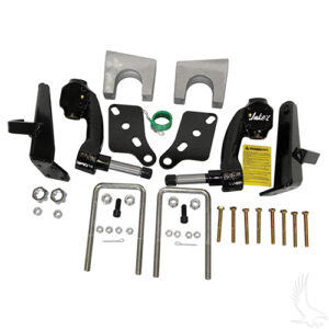 "Jakes Lift Kit, 6"" Spindle, Club Car DS Gas & Electric w/ Plastic Dust Covers 03.5-09"