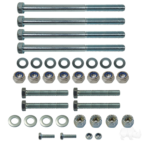 """RHOX Lift Kit, 3"""" Drop Spindle, Club Car DS Gas & Electric 03.5-09"""