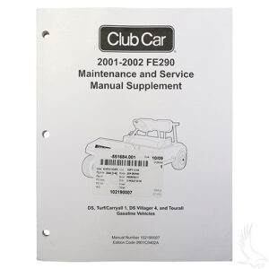 Maintenance & Service Supplement, Club Car DS Gas (FE290) 01-02