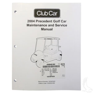 Maintenance & Service Manual, Club Car Precedent Gas 04