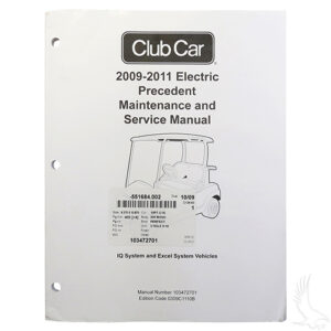 Maintenance & Service Manual, Club Car Precedent Electric 09-11