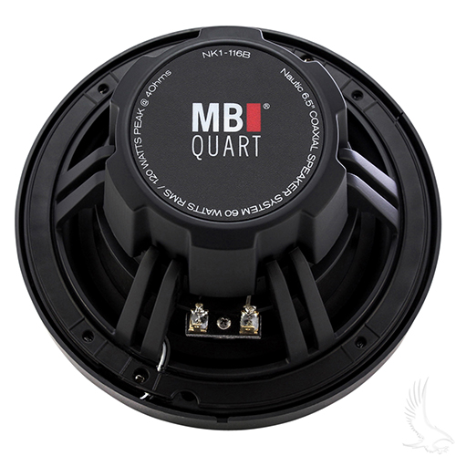 "MB Quart Black, 6.5"" 2-Way Coaxial Nautic Speaker System, Marine Grade"