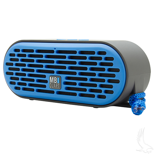 QUB Three Dual Driver Wireless Bluetooth Speaker, Blue