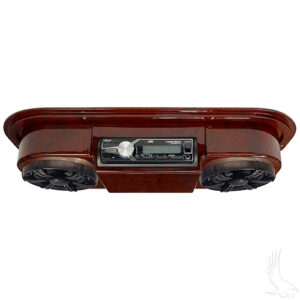 Assembled, Woodgrain Console w/ JVC Marine Grade Receiver, MB Quart Speakers & Antenna