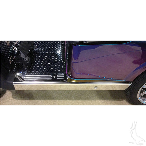 Rocker Panel Set, Polished Stainless Steel, E-Z-Go RXV