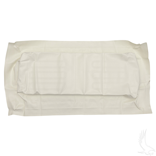 Seat Bottom Cover, White, Club Car 00 & down