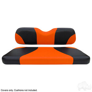 Seat Cover Set, Sport Black/Orange, E-Z-Go TXT, RXV
