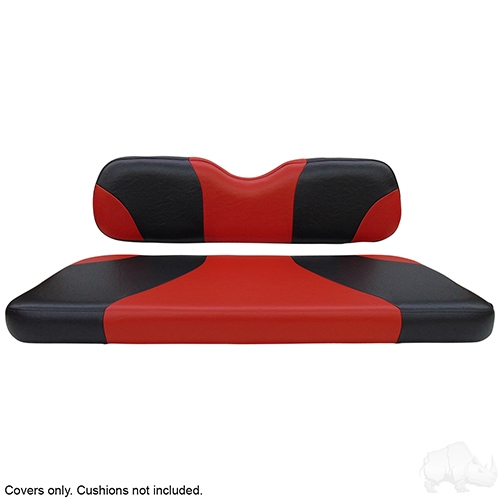 Seat Cover Set, Sport Black/Red, E-Z-Go TXT, RXV