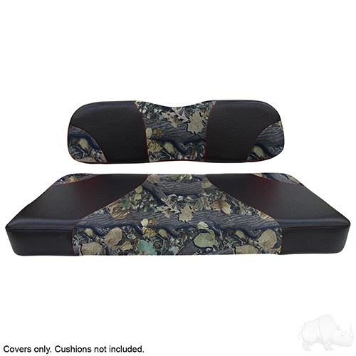 Seat Cover Set, Sport Black/Camo, Club Car DS