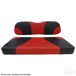 Seat Cover Set, Sport Black/Red, Club Car DS
