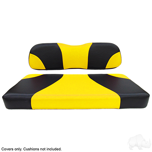 Seat Cover Set, Sport Black/Yellow, Club Car DS
