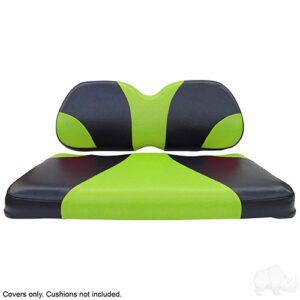 Seat Cover Set, Sport Black/Green, Club Car Precedent