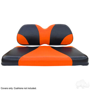 Seat Cover Set, Sport Black/Orange, Club Car Precedent
