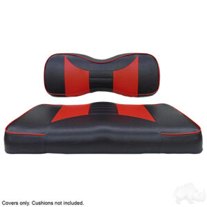Seat Cover Set, Rally Black/Red, Yamaha Drive