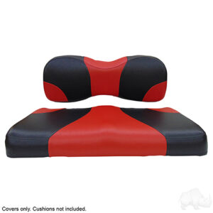 Seat Cover Set, Sport Black/Red, Yamaha Drive