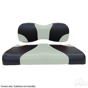 Seat Cover Set, Sport Black/Silver, Yamaha Drive