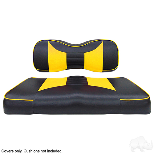 Seat Cover Set, Rally Black/Yellow, Yamaha Drive