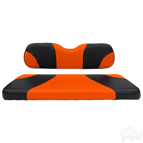 RHOX Rhino Seat Kit, Sport Black/Orange, E-Z-Go RXV